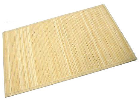Light Natural Bamboo Mat