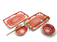 Tuscan Red Star Light Star Bright Sushi Set for Two