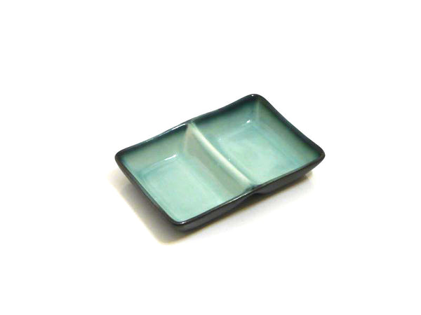Satin Jade Divided Sauce Dish