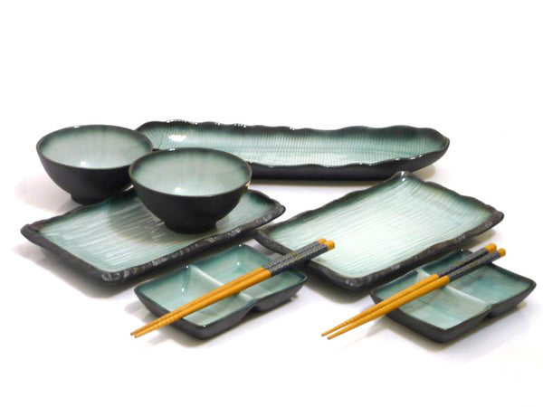 Satin Jade Premier Sushi Serving Set