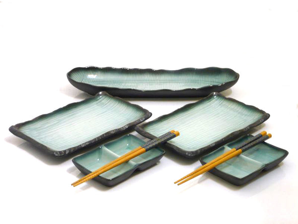 Satin Jade Sushi Serving Set