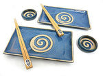 Uzushio Blue Sushi Set for Two