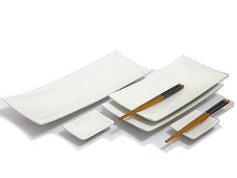 Winter White Sushi Serving Set