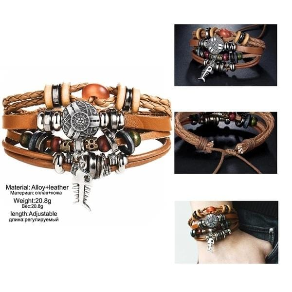 Danica's Multilayer Leather Bracelet