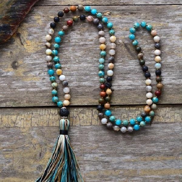 Evie's Stone Tassel Necklace