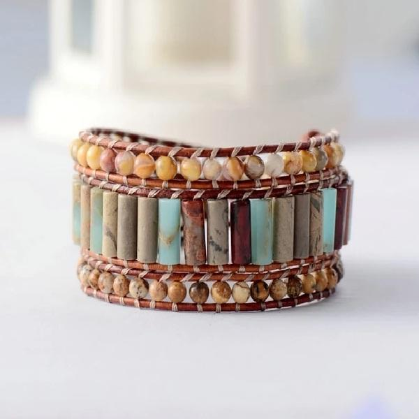 Esther's Leather Wrap Bracelet