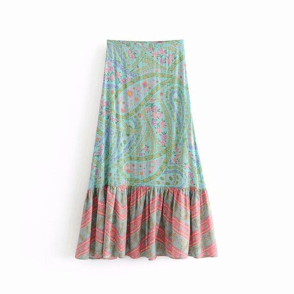 Roselyn's Paisley Long Skirt