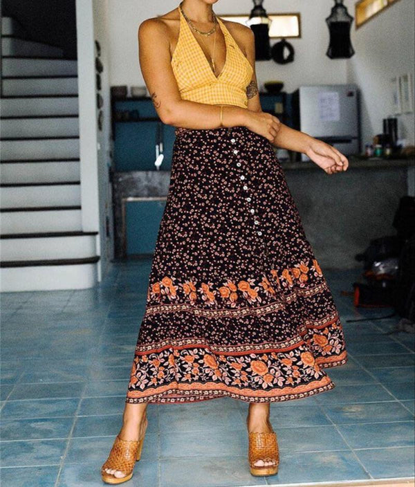 Jordyn's Bohemian Long Skirts