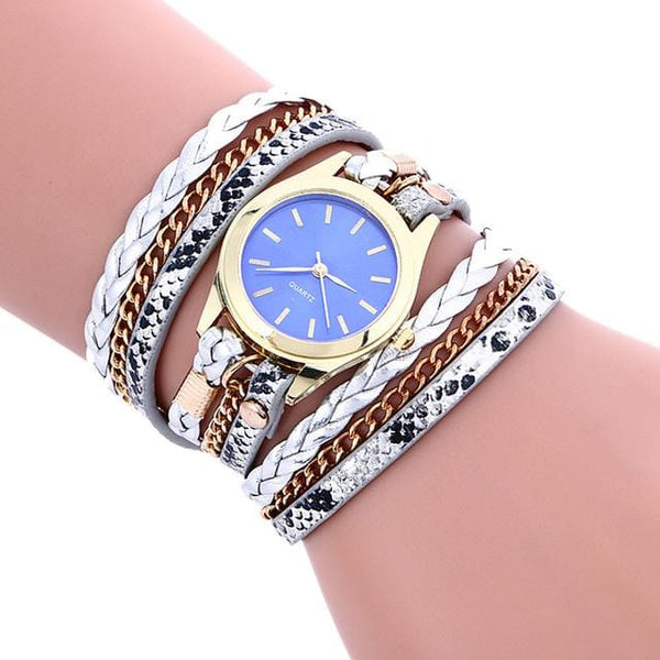 Elizabet's Leather Bracelet Watches