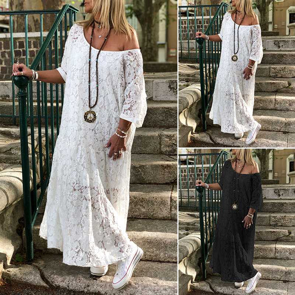 Emmarie's O Neck Bohemian Maxi Dress