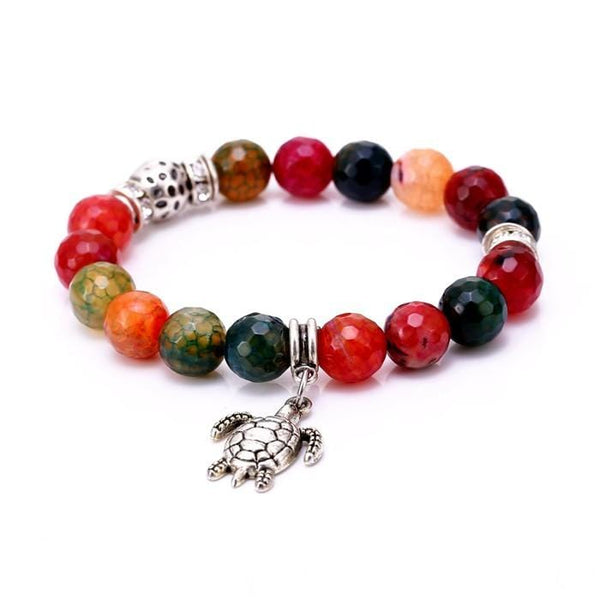 Mother Earth Calming Turtle Bead  Bracelet