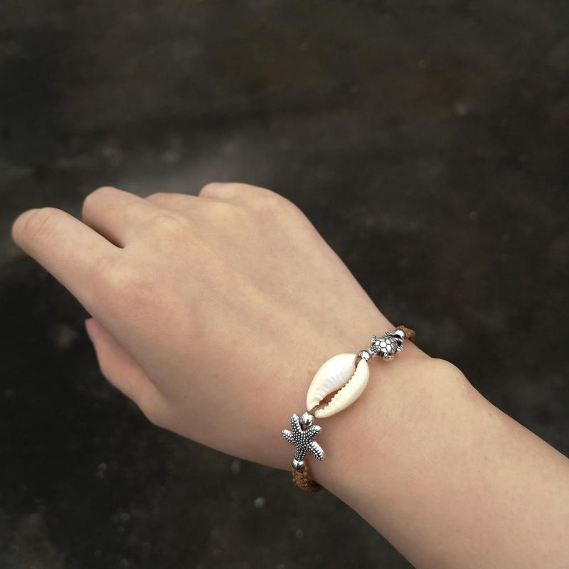Lucky Starfish Shell Turtle Braided Bracelets