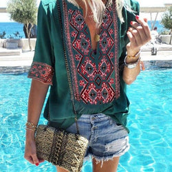 Boho Chic Ethnic Blouse