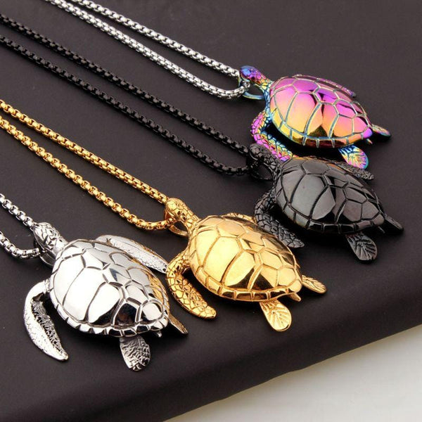 Titanium Sea Turtle Necklace