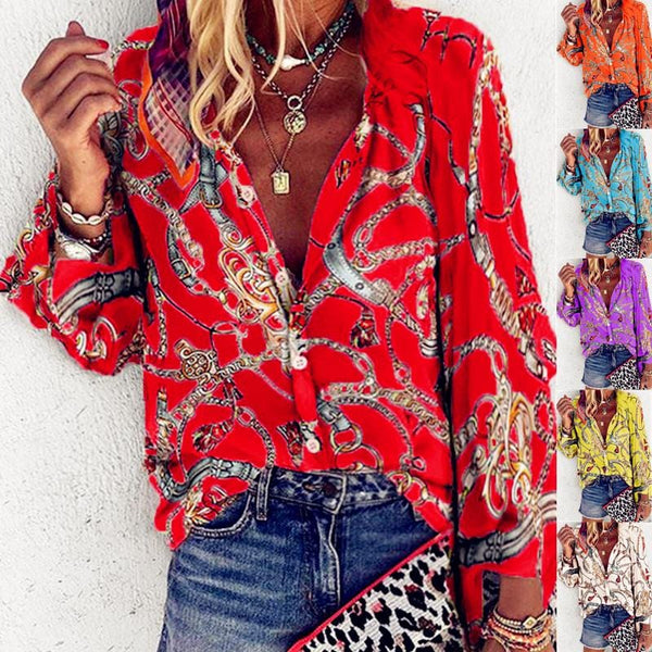 Sexy Rope Printed Blouse