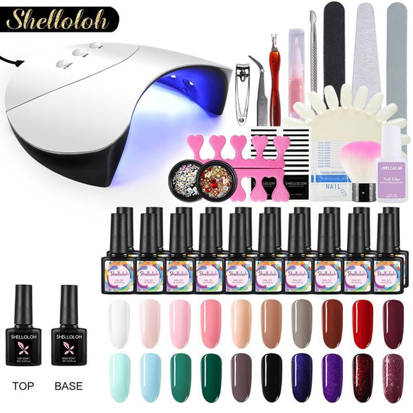 DIY Nail Gel Kit with UV LED Lamp