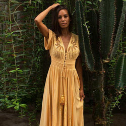 Yellow Boho Maxi Dress