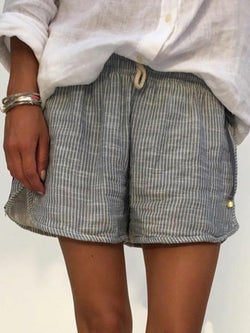 Lightweight Stripped Summer Shorts