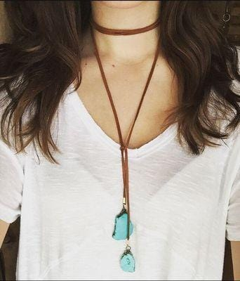 Boho Leather Rope Necklace