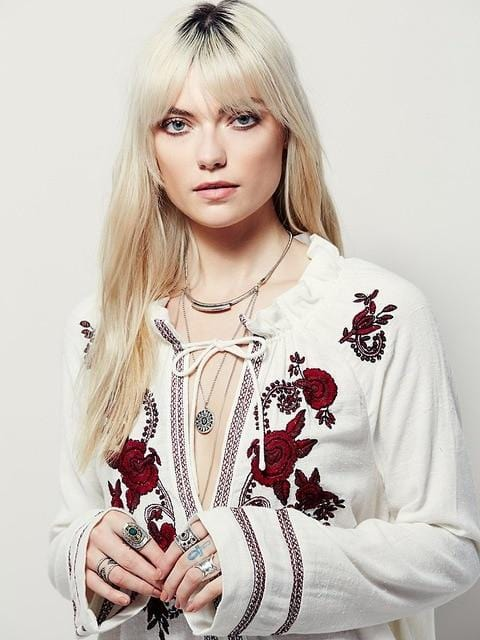 Isla's Sexy Embroidered Blouse