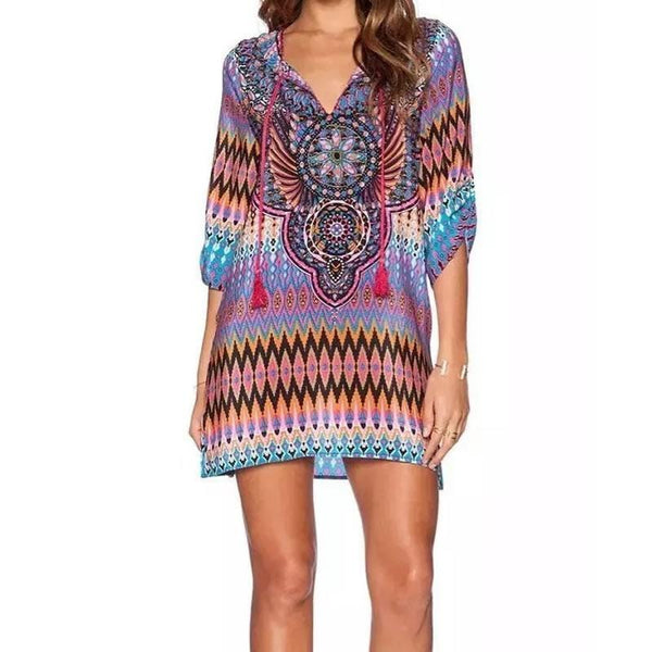 Jaylah's Bohemian Ethnic Dress