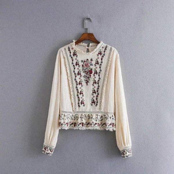 Liliana's Floral Embroidered Blouse