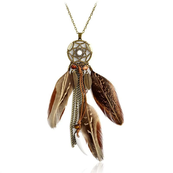 Amelie's Dream-Catcher Pendant Necklace