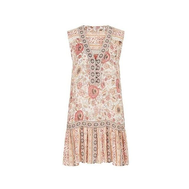 Kimber's Floral Print V-neck Dress
