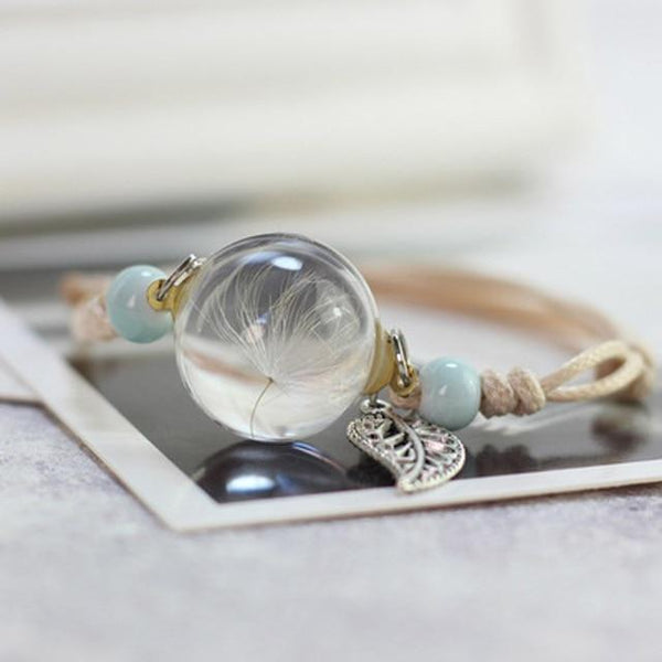 Kai's Dry Flower Glass Ball Bracelet