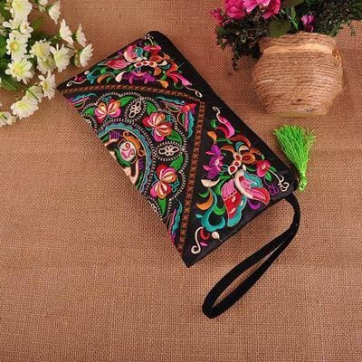 Ansley's Ethnic Flower Handbag