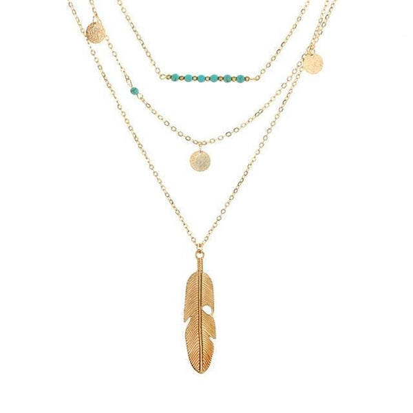Ana's Retro Layered Necklace