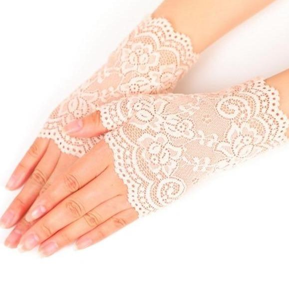 Elsie's Long Mesh Fingerless Gloves