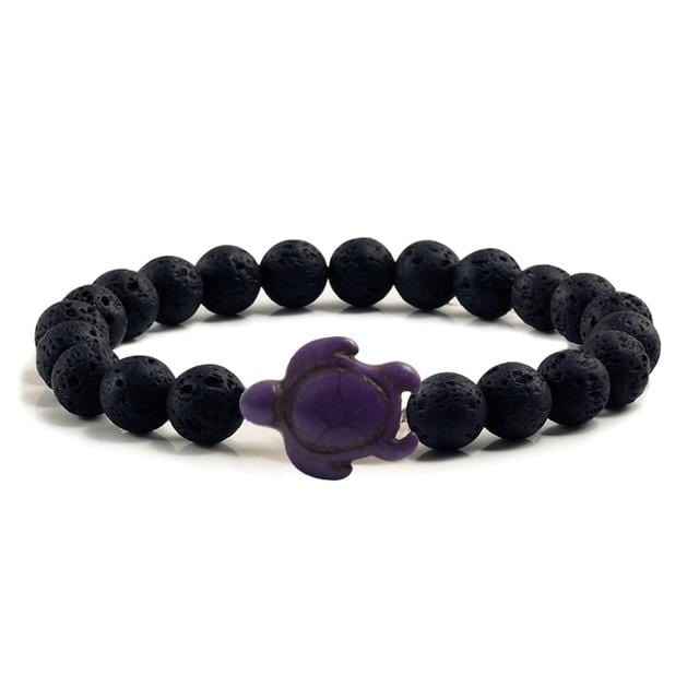 Black Lava Lucky Natural Stone Bracelet