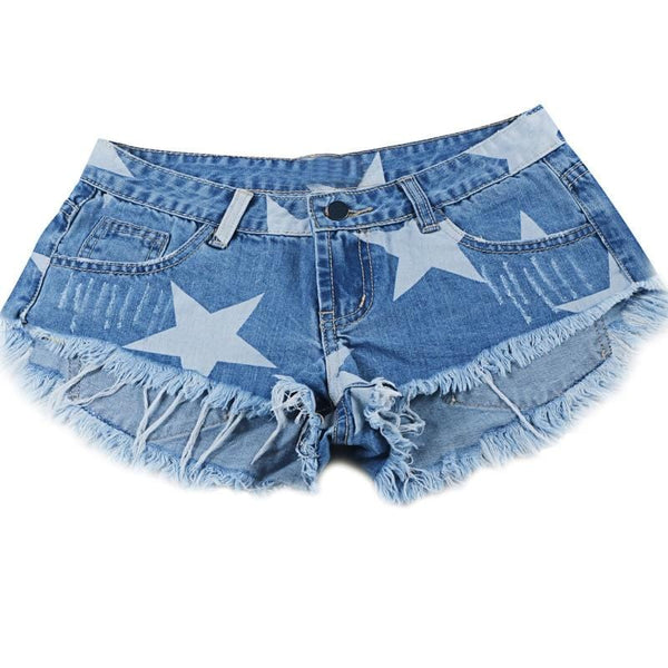 Sophia's Stars Print Denim Shorts
