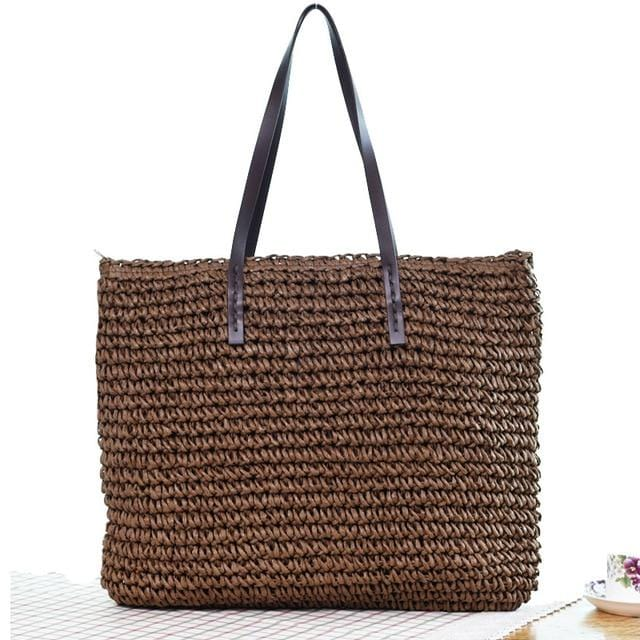 Melania's Knitted Straw Bag