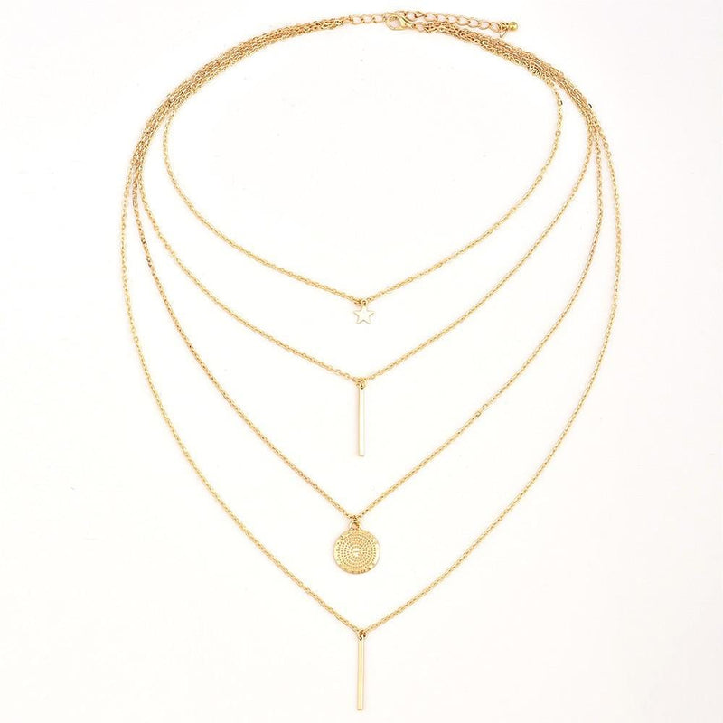 Paola's Vintage Multilayer Necklace
