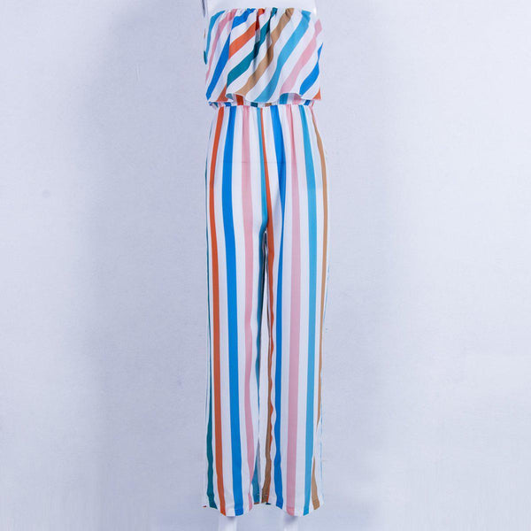 Anastasia's Casual Striped Jumpsuit