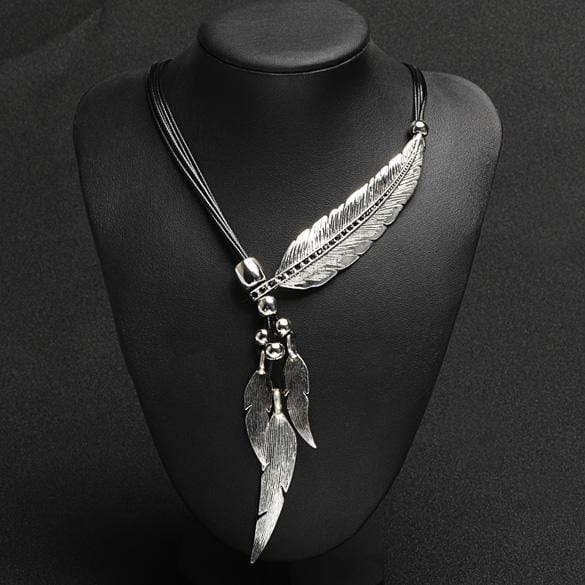 Jewel's Bronze Feather Necklace