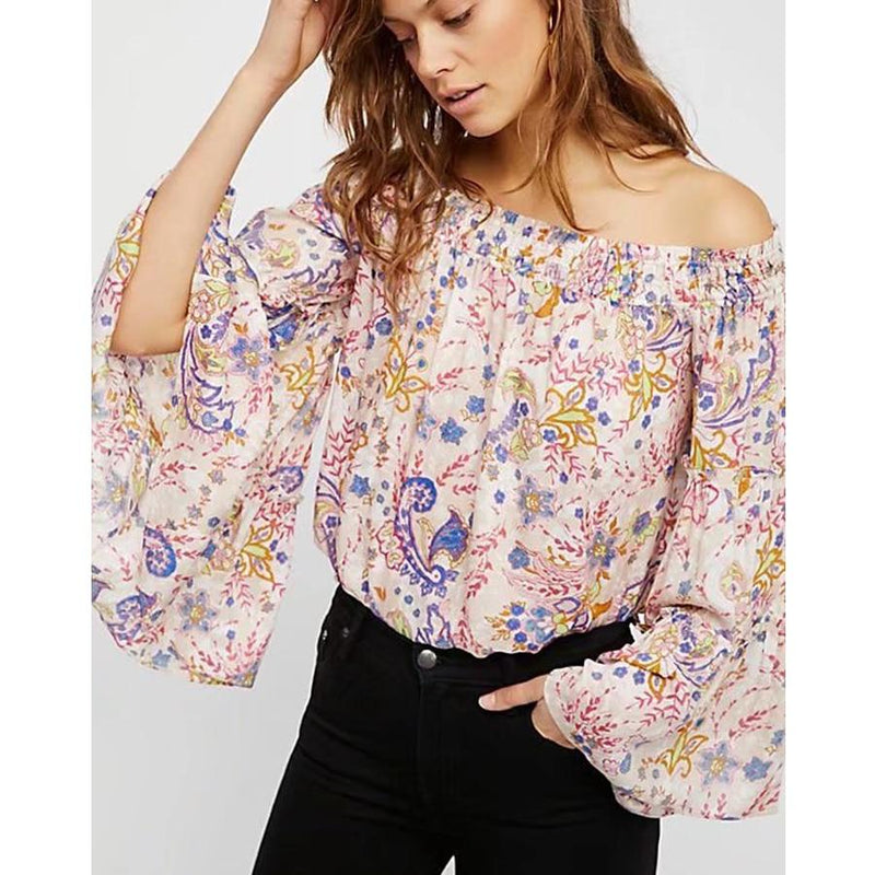 Hadley's Sexy Floral Print Blouse