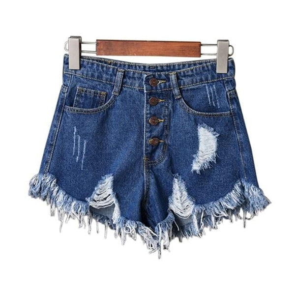 Courtney's Ripped Denim Shorts