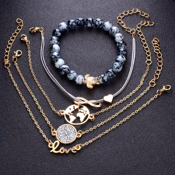 Brooklyn's Charm Gold Bracelets
