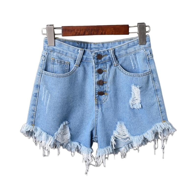 Emily's Tassel Ripped Jeans Shorts