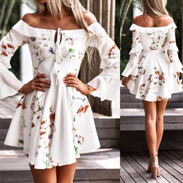 Marina's Off Shoulder Mini Dress