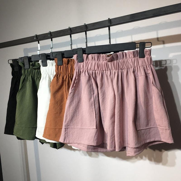 Emberly's Elastic High Waist Shorts