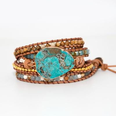 Louise's Unique Stones Wrap Bracelets