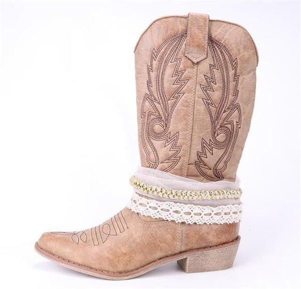 Kailyn's Chain Western Boots