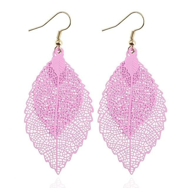 Aria's Vintage Leaves Drop Earrings