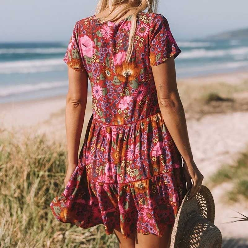 Jemma's Floral Bohemian Chic Dress