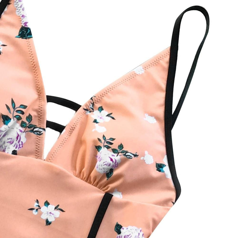 Sienna's Rose Floral Print One-Piece