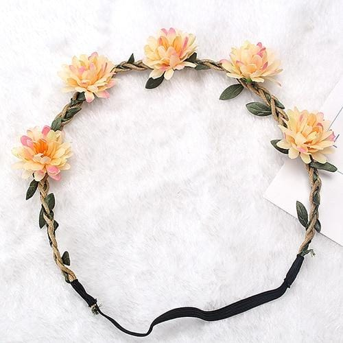 Sariah's Bride Flower Headband